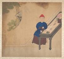清佚名肖像册-清代官员