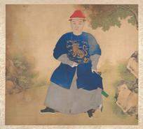 清佚名肖像画