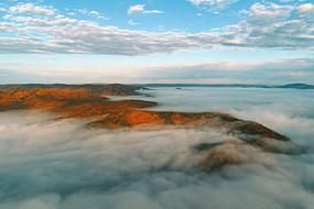 山岭云雾风景(航拍)