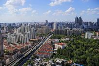 高空上海城市