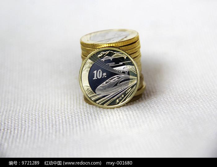 静物高铁纪念币图片