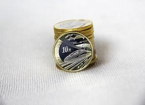 静物高铁纪念币