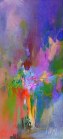 高清手绘抽象油画