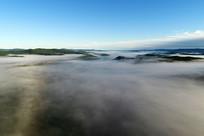 航拍大兴安岭森林云雾