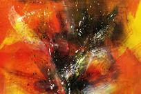 现代抽象油画壁画