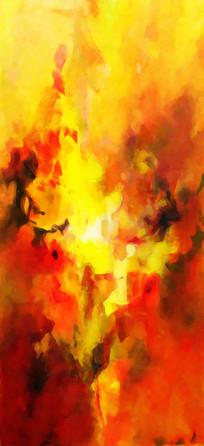 玄关端景抽象油画