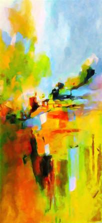 走廊过道抽象油画