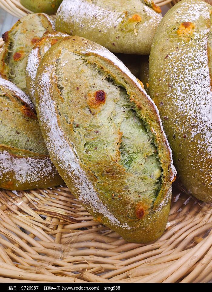 绿豆面烘焙面包图片
