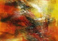 抽象油画手绘装饰画