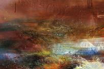 抽象油画现代简约风格