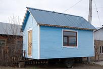 俄式木板彩色木屋