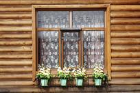 俄式木刻楞木屋窗子