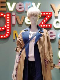时装展柜时尚模特