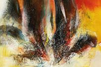 手绘高清抽象油画