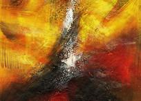 现代简约抽象油画背景墙