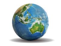 蓝色地球仪