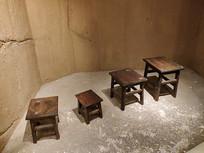 苏区保育院窑洞小板凳