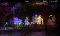 五光十色的溶洞奇观