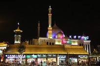 呼和浩特伊斯兰风情街夜景