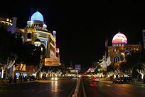 呼和浩特伊斯兰建筑夜景