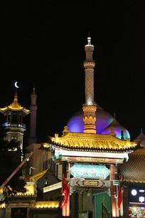 呼市清真大寺夜景