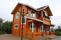 木制双层别墅