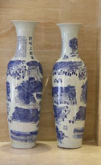 清明上河图青花大瓷瓶