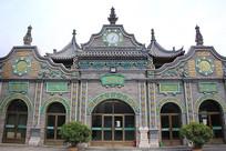 清真大寺正门伊斯兰风情建筑