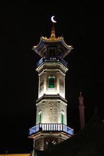 伊斯兰风情街望月楼夜景