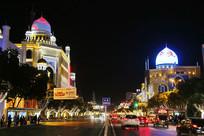 伊斯兰风情街夜景
