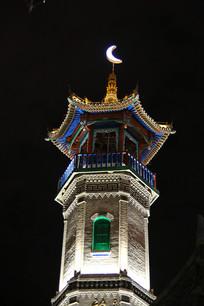 伊斯兰风情望月楼夜景