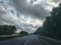 道路绿化拍摄