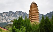 高高的古塔建筑
