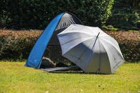户外帐篷绿地