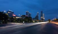 厦门道路夜景风光