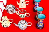 中国茶壶和茶杯