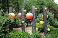 市区绿化带装饰雕塑小品