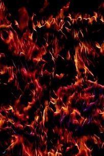 奔腾火焰创意背景图片