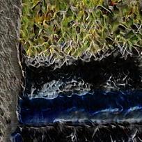 抽象大树火焰底纹油画背景