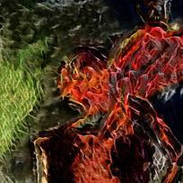 抽象火焰底纹海报背景