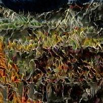 抽象欧式建筑油画背景墙
