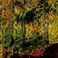 抽象树林客厅装饰油画