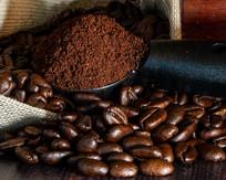 大颗粒的咖啡豆