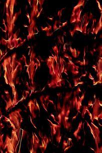 动感燃烧火焰篝火素材