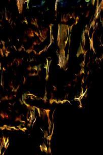 炫酷斑斓火焰海报