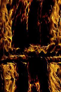 炫酷金色火焰底纹海报