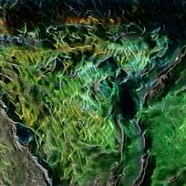 梦幻抽象焰底纹装饰油画