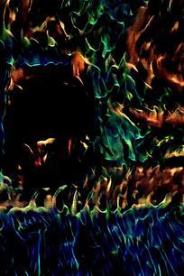 绚丽斑斓火焰设计封面