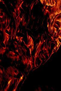 绚丽红色火焰设计封面