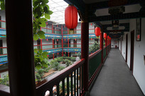 中式建筑酒店回廊